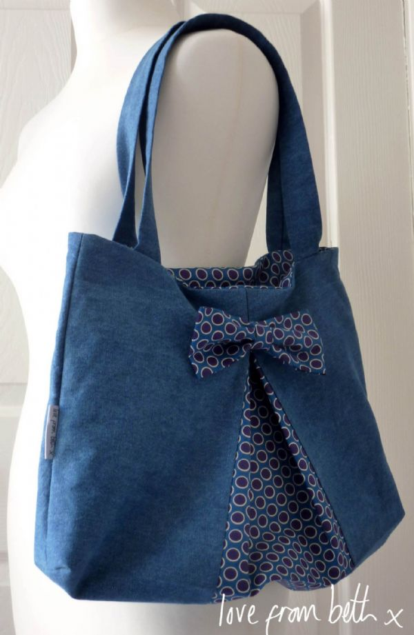 Love From Beth - Easy Bow Bag Sewing Pattern